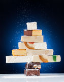 Christmas tree made of nougat royalty free stock images