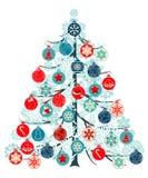 Christmas Tree Made Of Balls Stock Photos
