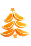 Christmas tree made from orange stock photo
