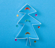 Christmas tree made of paper Royalty Free Stock Image