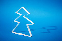 Christmas tree made of paper Royalty Free Stock Images