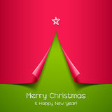 Christmas tree made of paper. Vector background for design Stock Photography