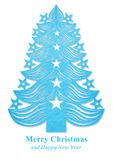Christmas tree made of paper - blue Stock Photography