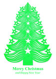 Christmas tree made of paper - green Royalty Free Stock Images
