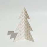 Christmas tree made of paper. / template Royalty Free Stock Photo