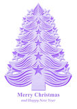 Christmas tree made of paper - violet Stock Photos