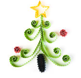 Christmas tree made of paper Royalty Free Stock Photography