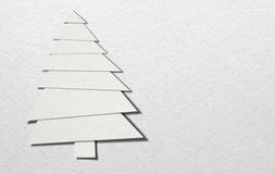 Christmas tree made of paper on white background Royalty Free Stock Image