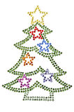 Christmas tree made of rhinestones Royalty Free Stock Photo