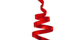 Christmas tree made from ribbon Royalty Free Stock Photography