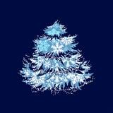 Christmas tree made of snowflakes Stock Image