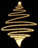 Christmas tree made by sparkler on a black background. Spruce in sketch style stock images