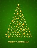 Christmas tree made from stars Royalty Free Stock Photo