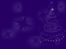 Christmas tree made of stars  Royalty Free Stock Photos