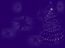 Christmas tree made of stars  Royalty Free Stock Photos