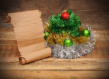 Christmas tree made of tinsel Stock Photo