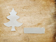 Christmas tree made of torn paper Royalty Free Stock Photos