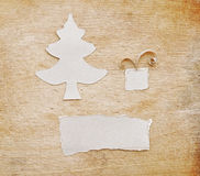 Christmas tree made of torn paper Stock Photo