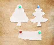 Christmas tree made of torn paper Royalty Free Stock Images