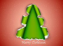 Christmas tree made of torn paper Royalty Free Stock Photography