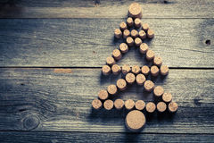 Christmas tree made of wine cork Stock Photo