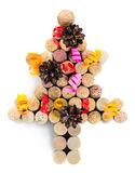 Christmas tree made from wine corks Stock Image