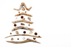 Christmas tree made of wood - copy space Royalty Free Stock Photography