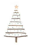 Christmas tree made of wooden branches Stock Photography