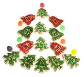 Christmas Tree made of Xmas Cookies and Candy Royalty Free Stock Photos