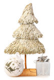 Christmas tree made ​​of straw Stock Images