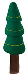 Christmas tree madefrom clay  on white Royalty Free Stock Photography