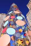 Christmas tree in Madrid Stock Image