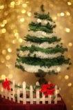 Christmas tree magic atmosphere Royalty Free Stock Image