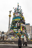 Christmas tree on the Maidan Stock Image