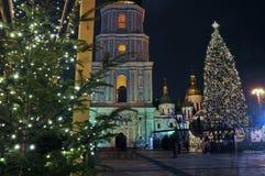Christmas tree on the main square of Kiev Stock Photo