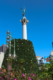 Christmas tree in the making at Union Square, San Francisco Royalty Free Stock Photos