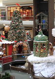 Christmas Tree in Mall Royalty Free Stock Images
