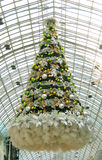Christmas tree in a mall. Floating christmas tree in a shopping mall Stock Photography