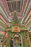 the christmas tree at mall Stock Image