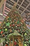 The christmas tree at mall. Christmas tree at Festival Walk mall at 2016 Stock Photos