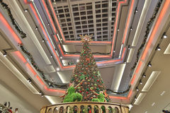 The christmas tree at mall. Christmas tree at Festival Walk mall at 2016 Royalty Free Stock Images