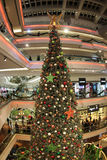 Christmas tree at mall on 2015. Christmas tree in Festival Walk mall in Kowloon Tong on 2016 Stock Image