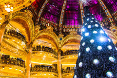Christmas tree in a mall. Christmas tree in a shopping mall Royalty Free Stock Image