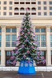 Christmas tree,  Manege Square, Moscow Royalty Free Stock Photos