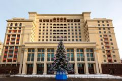 Christmas tree,  Manege Square, Moscow Royalty Free Stock Image