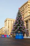 Christmas tree,  Manege Square, Moscow Royalty Free Stock Photography
