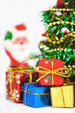 Christmas tree with many presents Royalty Free Stock Photography