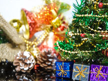Christmas tree with many presents Royalty Free Stock Images