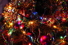 Christmas tree with many presents under it. Royalty Free Stock Photos