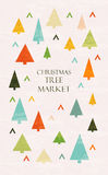 Christmas tree market lettering Royalty Free Stock Photography